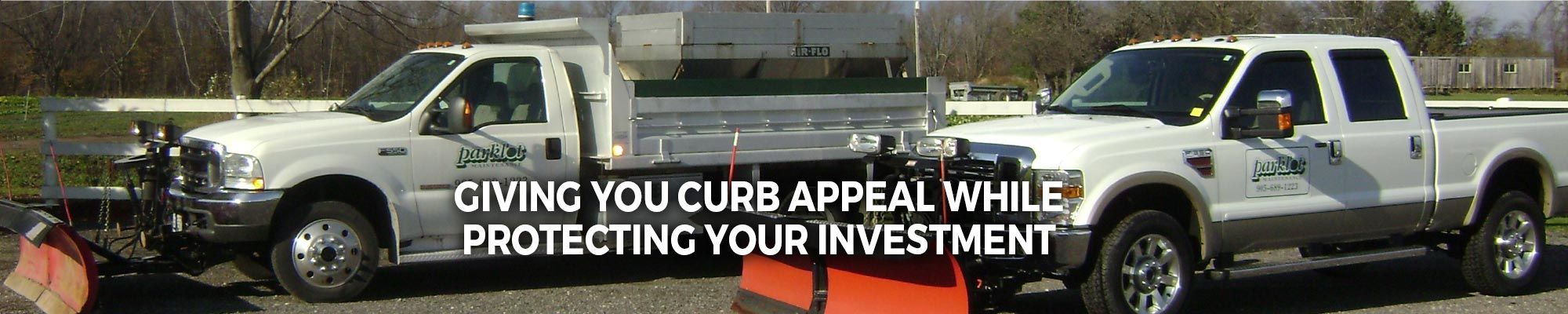 Giving You Curb Appeal, Protecting Your Investment | snow plow trucks